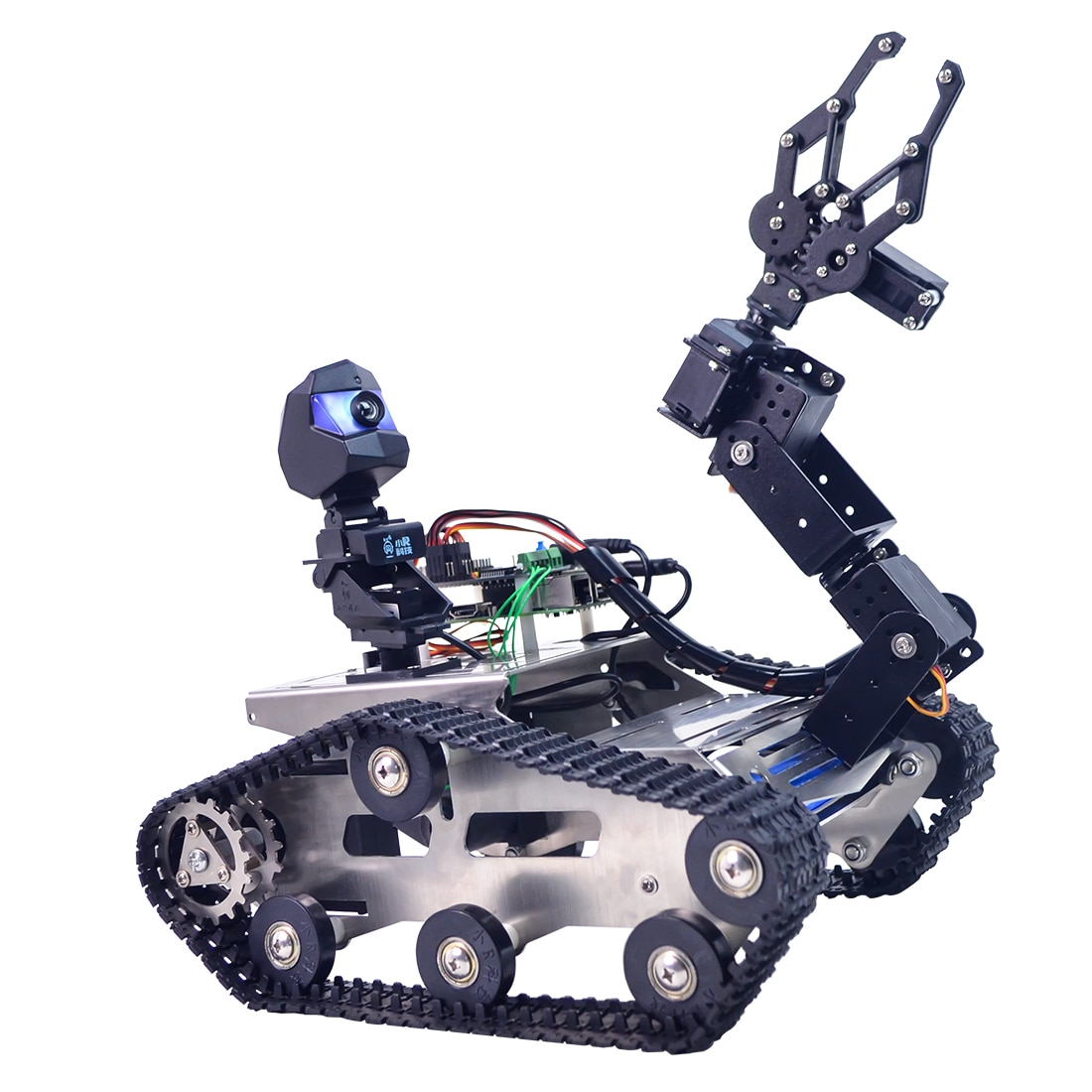New Programmable TH WiFi FPV Tank Robot Car with Arm for Arduino MEGA - Standard Version/Avoidance V