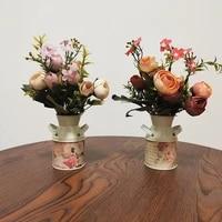 golden iron portable vase home decor plant flower vase outdoor gift holder terrarium tabletop office home decoration new
