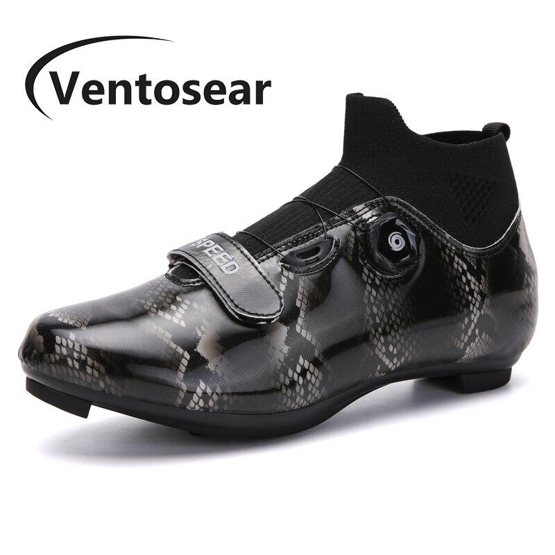 Ventosear-Zapatillas de ciclismo SPD para hombre y mujer, zapatos planos para bicicleta...