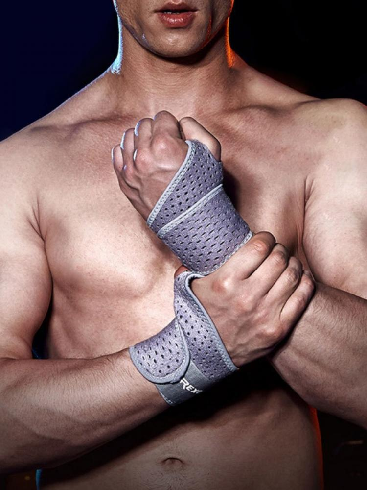 Новый спортивный нескользящий ремень для фитнеса и тяжелой атлетики гантели анти-растяжение дышащий удлиненный компрессионный зажим для б...