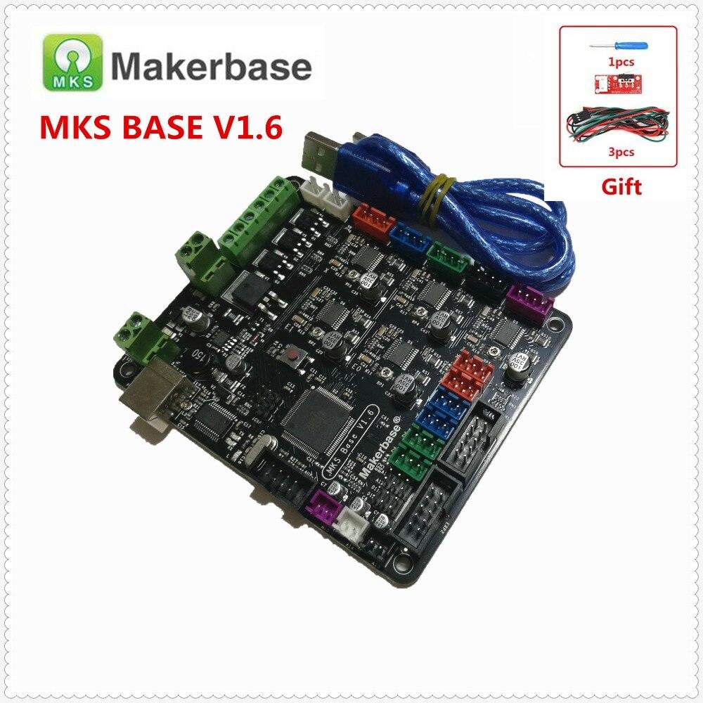 MKS BASE V1.6 3D printer board integrated circuit board compatible Mega 2560 R3 & RAMPS1.4 Marlin all in one control board