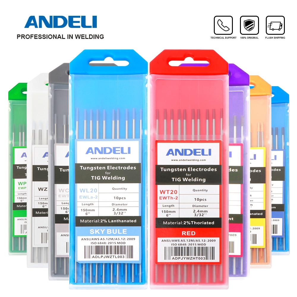 ANDELI Tungsten Electrodes TIG Electrodes 1.0 1.6 2.0 2.4 3.0 3.2 4.0mm WT20 WC20 WL20 WL15 WZ8 WP WY20 WR20 Tig Rods