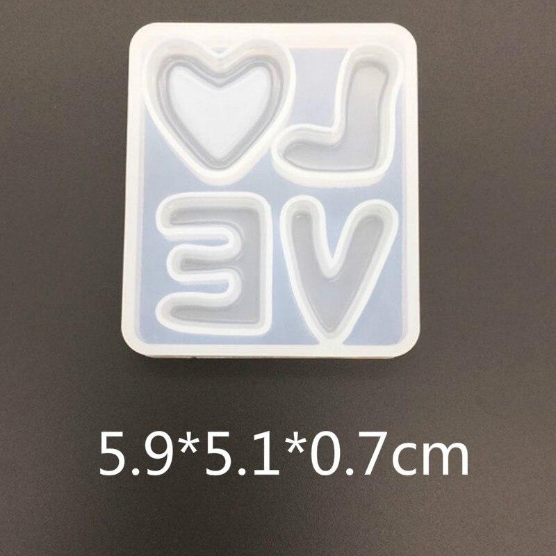 Molde de silicona con letras de amor, molde de adorno para el Día de San Valentín, molde transparente para Resina UV, molde de resina epoxi, herramientas de joyería, Molde de resina UV