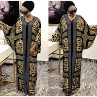 long dress muslim clothes women 2021 retro color matching plaid v neck long sleeve loose robe style plus size swing dress