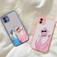 yinuoda yarichin club phone case for iphone x xr xs 7 8 plus 11 12 pro max translucent matte shockproof case