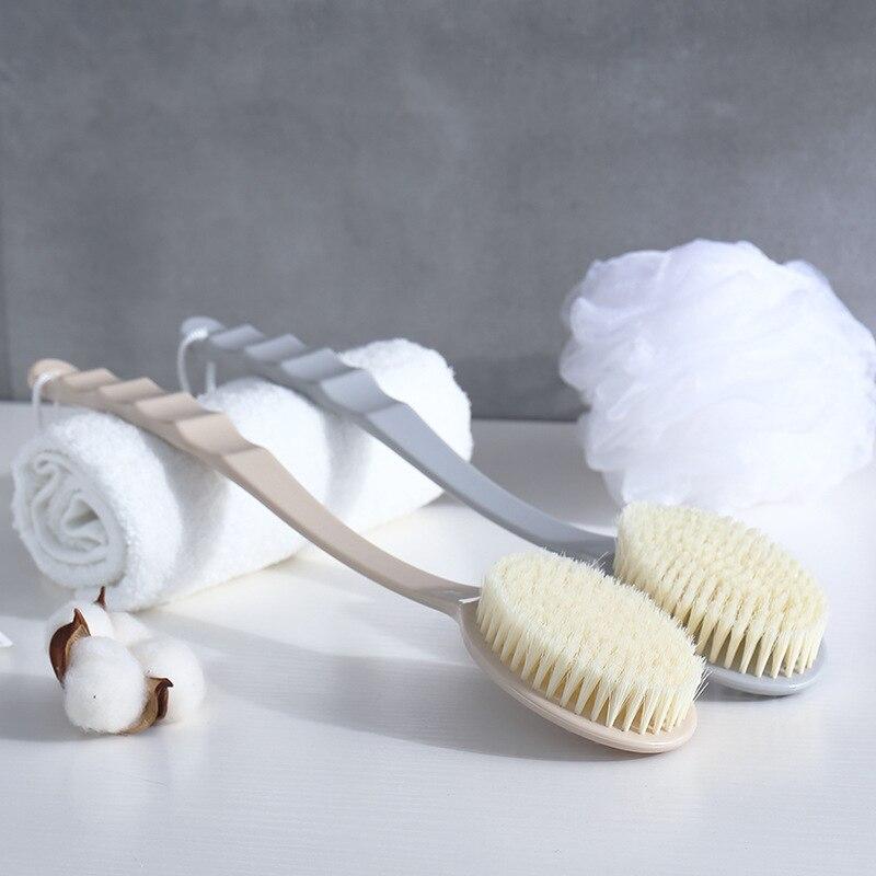 Cepillo de cuerpo de mango largo de esponja de ducha de para...