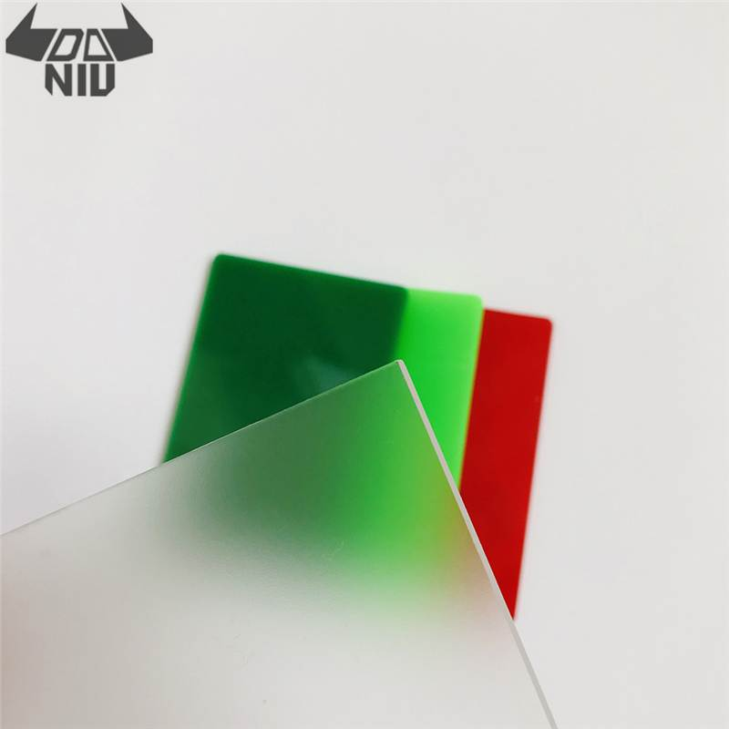DANIU 300x500mm PMMA acrílico esmerilado hoja acrílica placa Perspex tablero corte Panel césped hoja transparente
