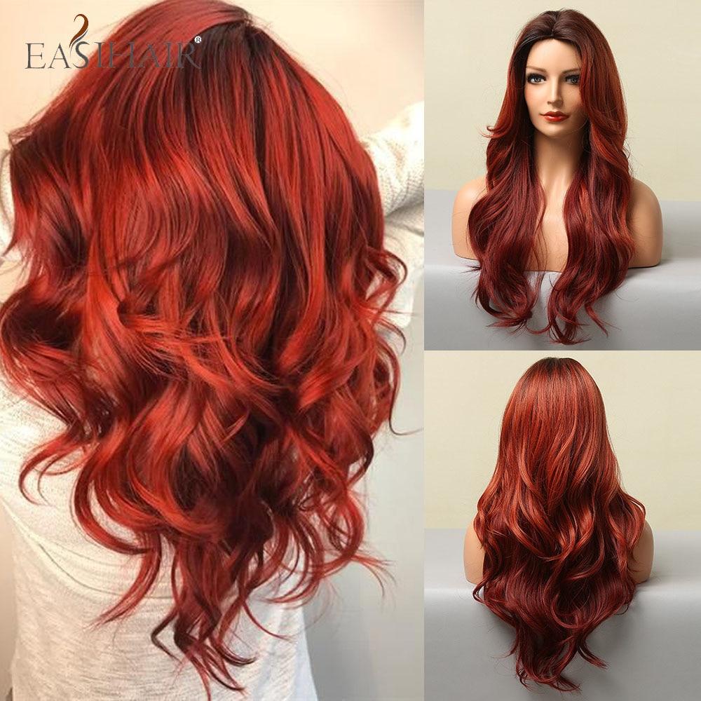 perucas resistentes ao calor da parte media da fibra colorida das mulheres negras