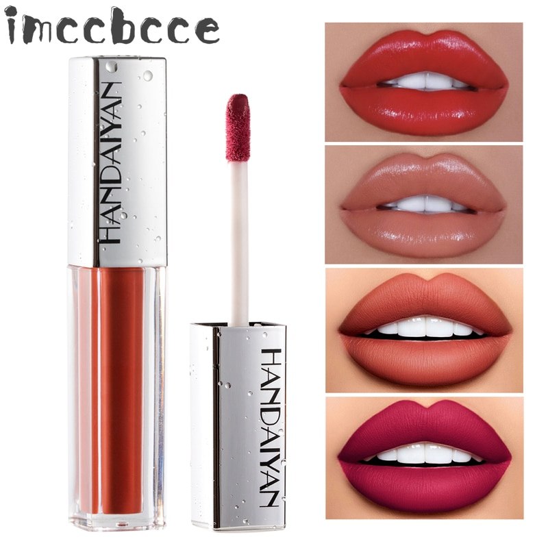 12Color Velve Matte Lipstick Lips Makeup Waterproof Long Lasting Lip Gloss Glitter Nude Sexy Red Shimmer Liquid Lip Stick Beauty