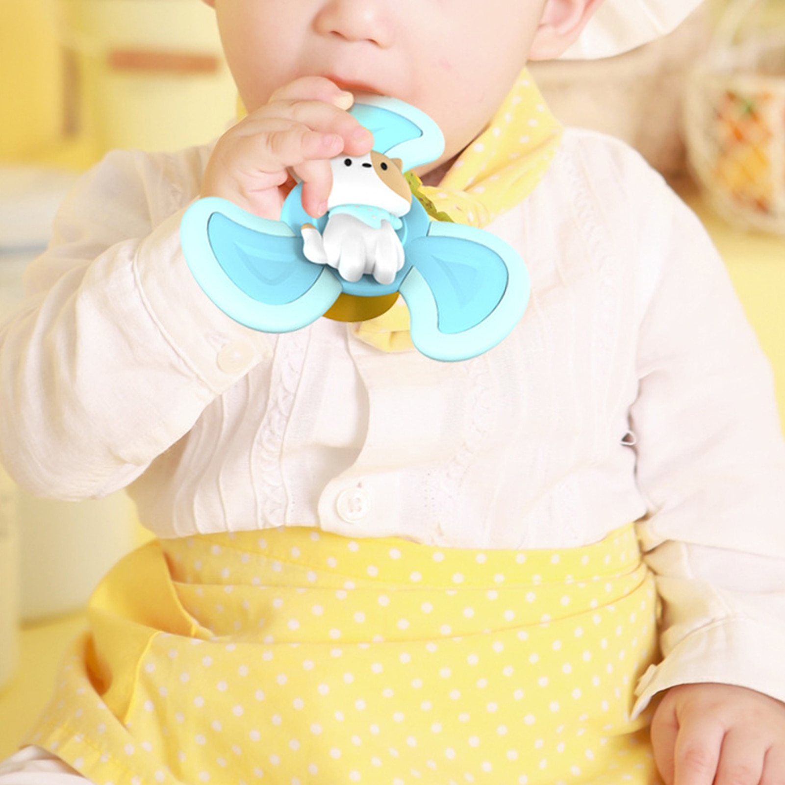 3PCS Baby Bath Spinning Top Toy Safe Interesting Baby Bath Toys Animal Hand Spinner Toys With Suction Cups Spin Toy For Kids enlarge