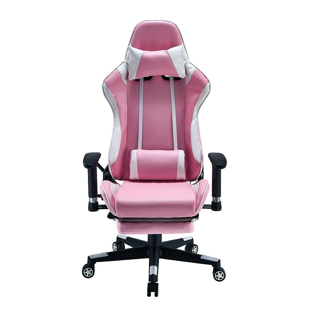 Panana cadeira de escritório ajustável rosa ergonômico alta volta confortável assento de corrida quarto computador jogo cadeiras reclináveis assento
