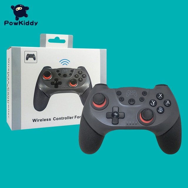 POWKIDDY For Switch NS Game Wireless Bluetooth Vibration Controller Remote control lever 10
