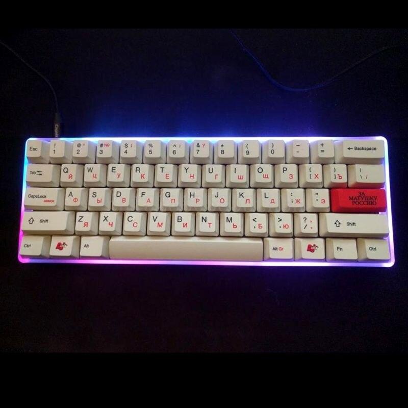 غلاف أكريليك بلوري للوحة المفاتيح الصغيرة ، لوحة PCB لـ GH60 DZ60 Poker2 60%