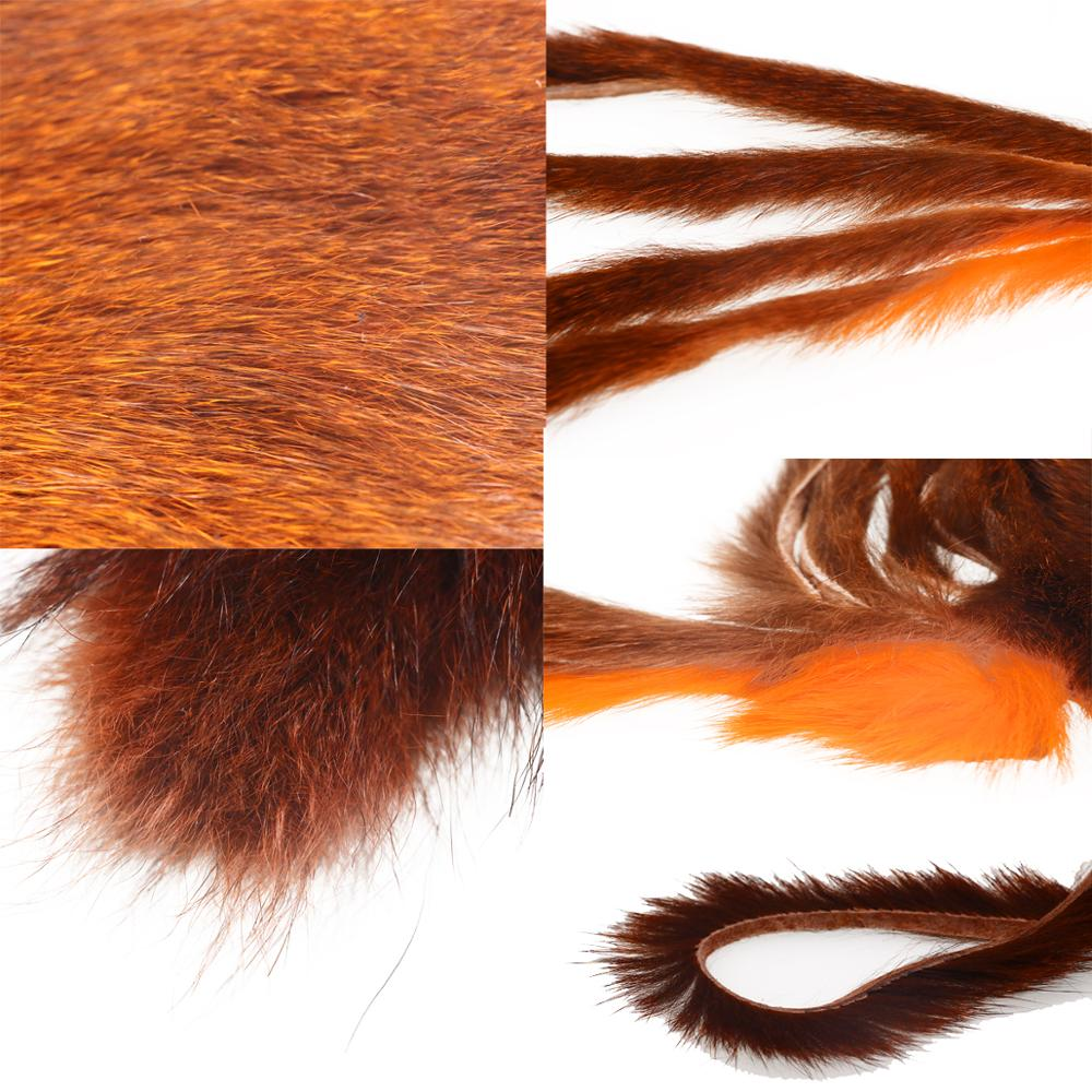 Fly Fishing Squirrel Fur Whole Pine Squirrel Skin Natural Thick Hair Zonker Strip Nymphs Lure Fly Tying Dubbing Materials enlarge
