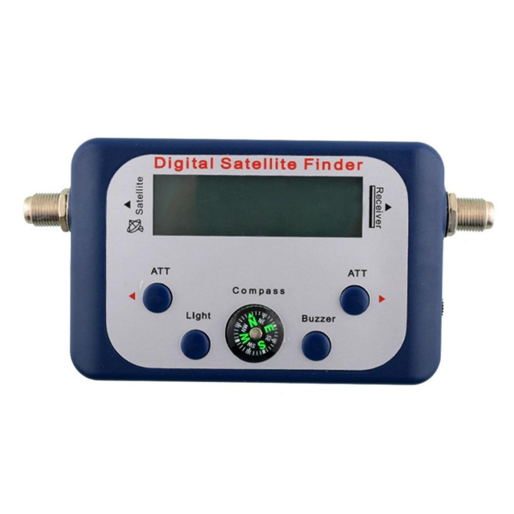 Digital LCD Display Satellite TV Signal Finder Satfinder Signal Tester Strength Meter Sky Dish Freesat