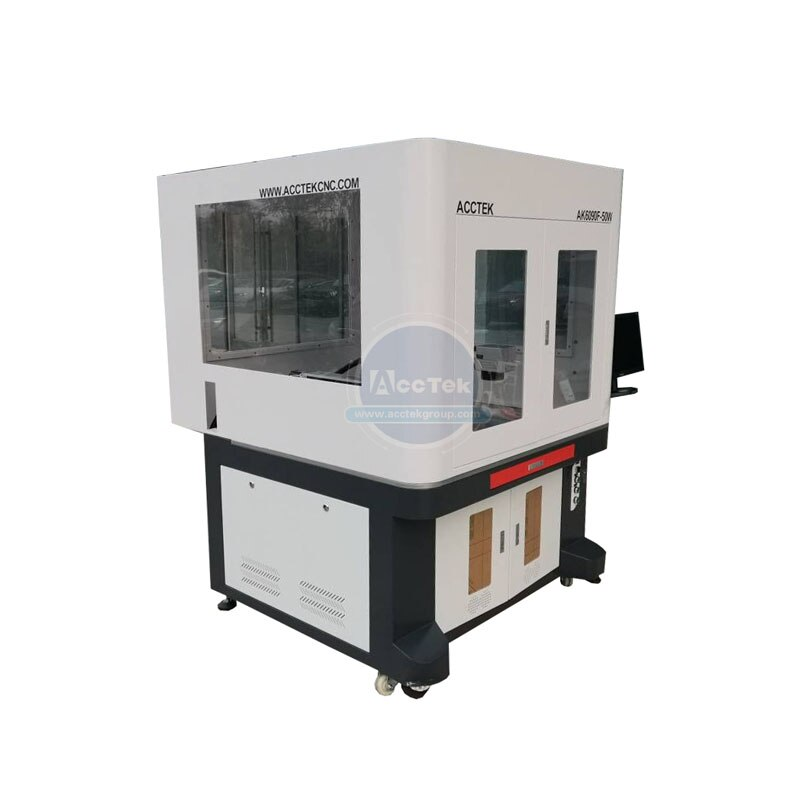 Fast and High Quality Gold Jewellery Metal Plastic Fiber Laser Cutting Marking Machine enlarge