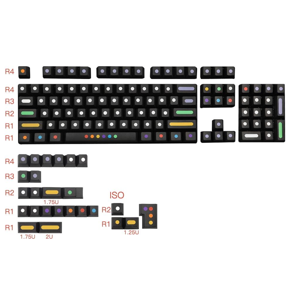 128 مفتاح/مجموعة من النقاط ، قبعات المفاتيح PBT لمفتاح Cherry الشخصي ، مفاتيح MX ، لوحة المفاتيح الميكانيكية ، صبغ ، غطاء مفتاح التسامي ، مفاتيح iso