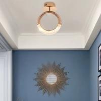 nordic modern aisle ring led ceiling lamp balcony lighting corridor fixture creative earring entrance hall living decor lights