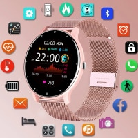 LIGE 2021 Смарт-часы Дамы Полный сенсорный Экран Спорт Фитнес часы IP67 Водонепроницаемый Bluetooth для Android iOS смарт-часы для женщин