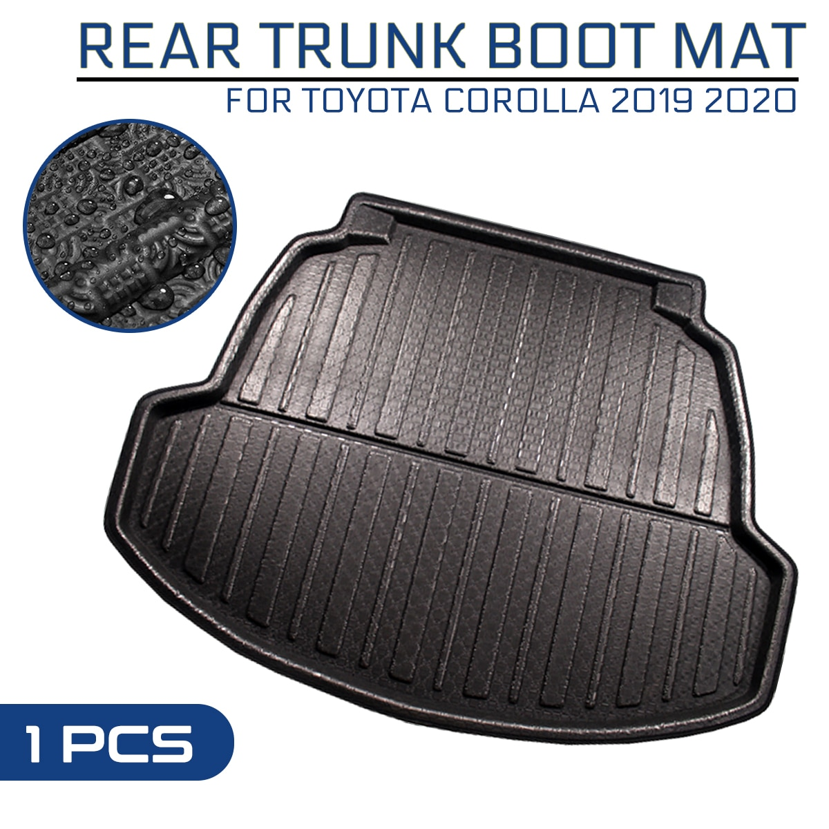 Car Floor Mat Carpet For TOYOTA COROLLA 2019 2020 Rear Trunk Anti-mud Cover