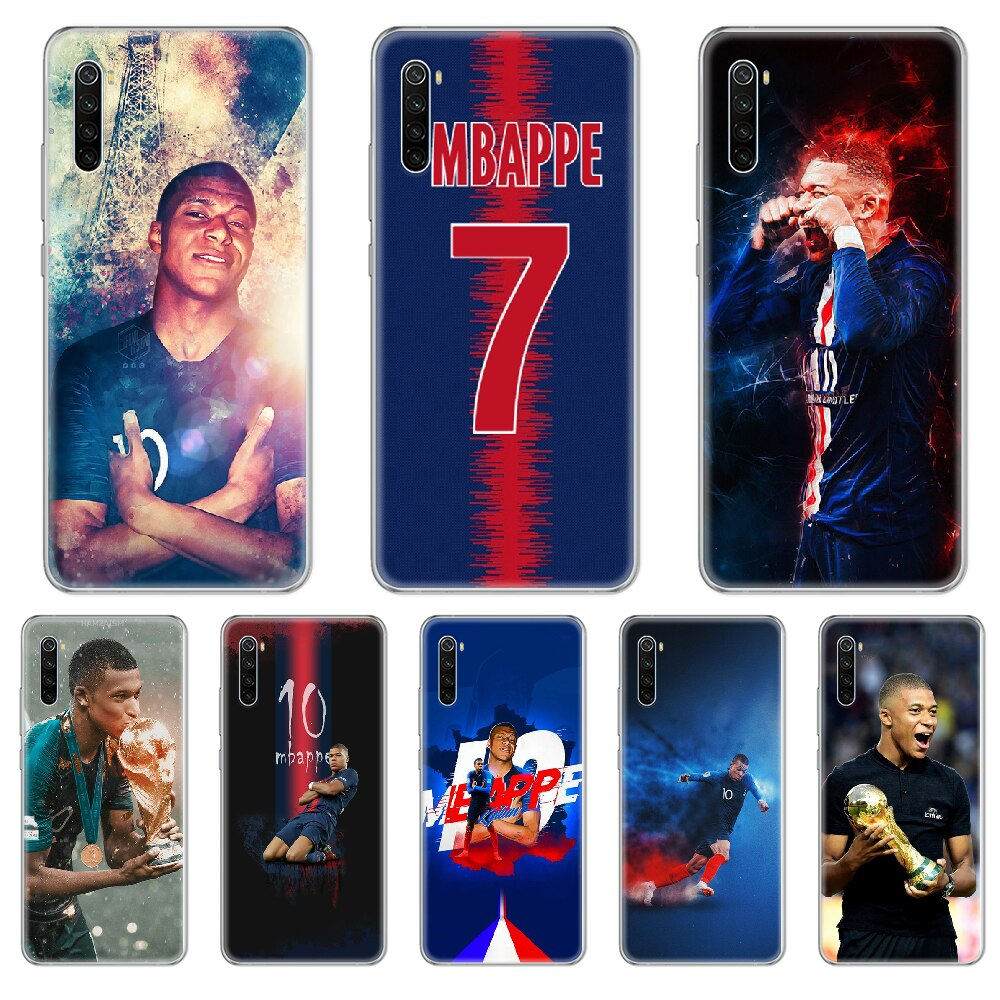 Francia fútbol Mbappe funda de teléfono para xiaomi Redmi 3S 4A 5A 6A 5 Plus 4X 7 8 8a CC9 K20 Pro K30 parachoques transparente