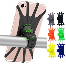 ซิลิโคนจักรยานผู้ถือรถจักรยานยนต์สำหรับ IPhone 13 11 Pro Max 7 8 Plus X Xr 12ขาตั้งโทรศัพท์มือถือจักรยาน GPS คลิป ...