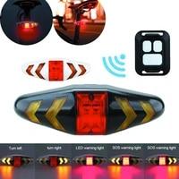 bike turning signal wireless remote mountain bike taillights cycling lights remote control led warning lamp flashing headlights