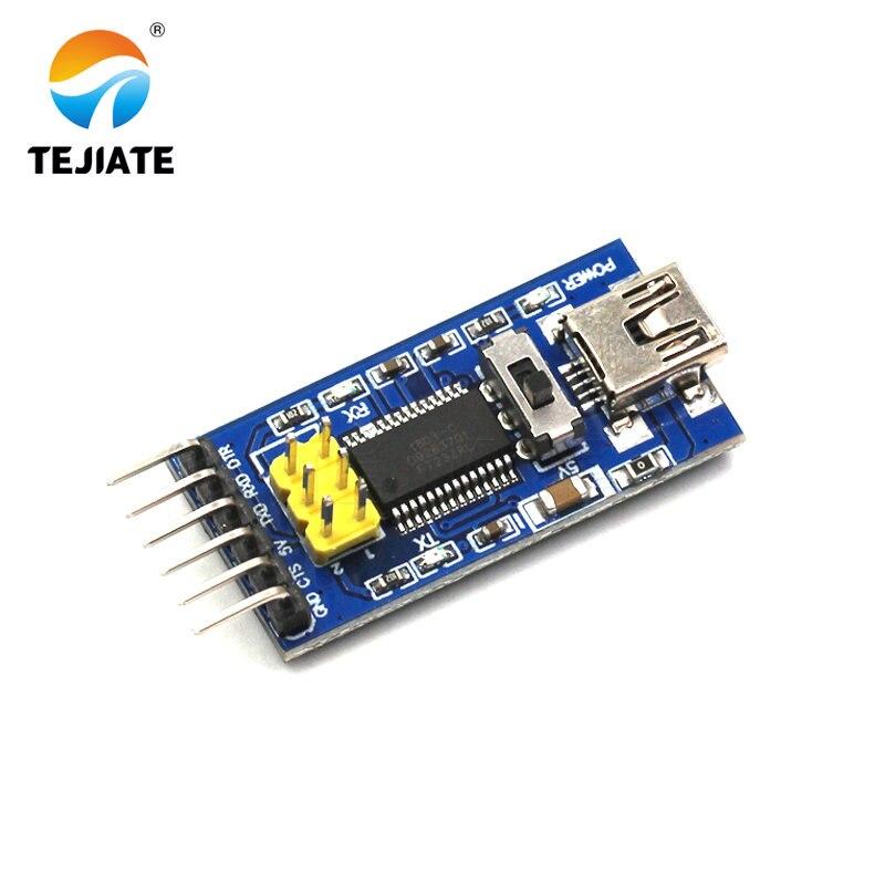 1 Uds. FT232 Módulo de recarga FTDI unidad de programa básico cargador USB a TTL FT232RL compatible con 3,3 V 5V con Pin amarillo ISP