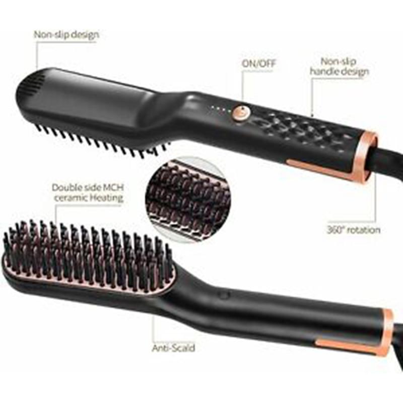 Hair Straightening Comb Hair Curler AntiScalding Quick Beard Styler enlarge