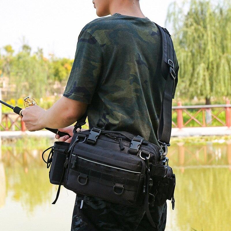 Bolsas multifunción para aparejos de pesca, bolsas para deportes al aire libre, bolsas para pesca, bolsas de almacenamiento, bolsas para bandolera