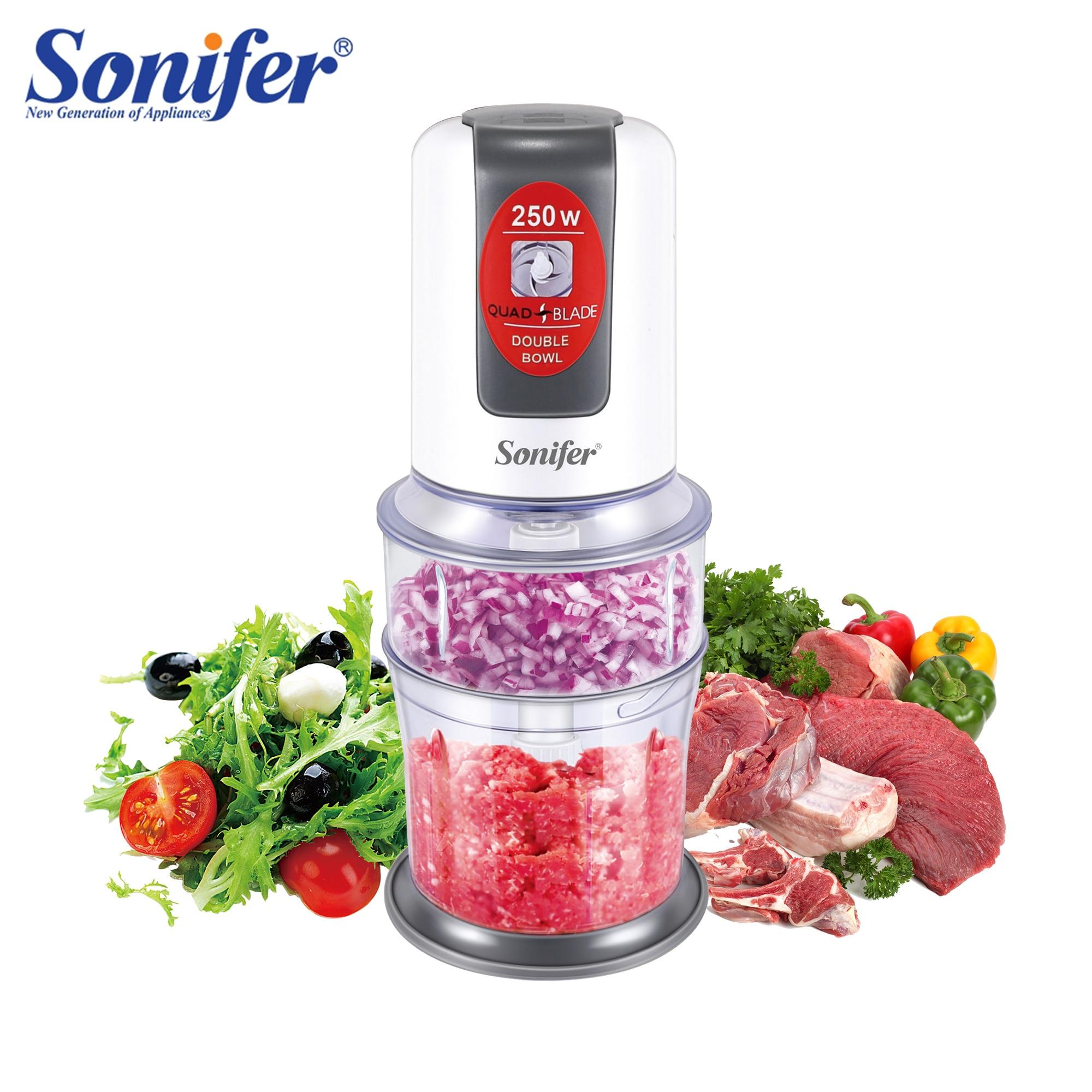 Multifunción cortador de alimentos cortador eléctrico de verduras espiral carne fruta triturador rebanador procesador de alimentos para cocina 220V Sonifer