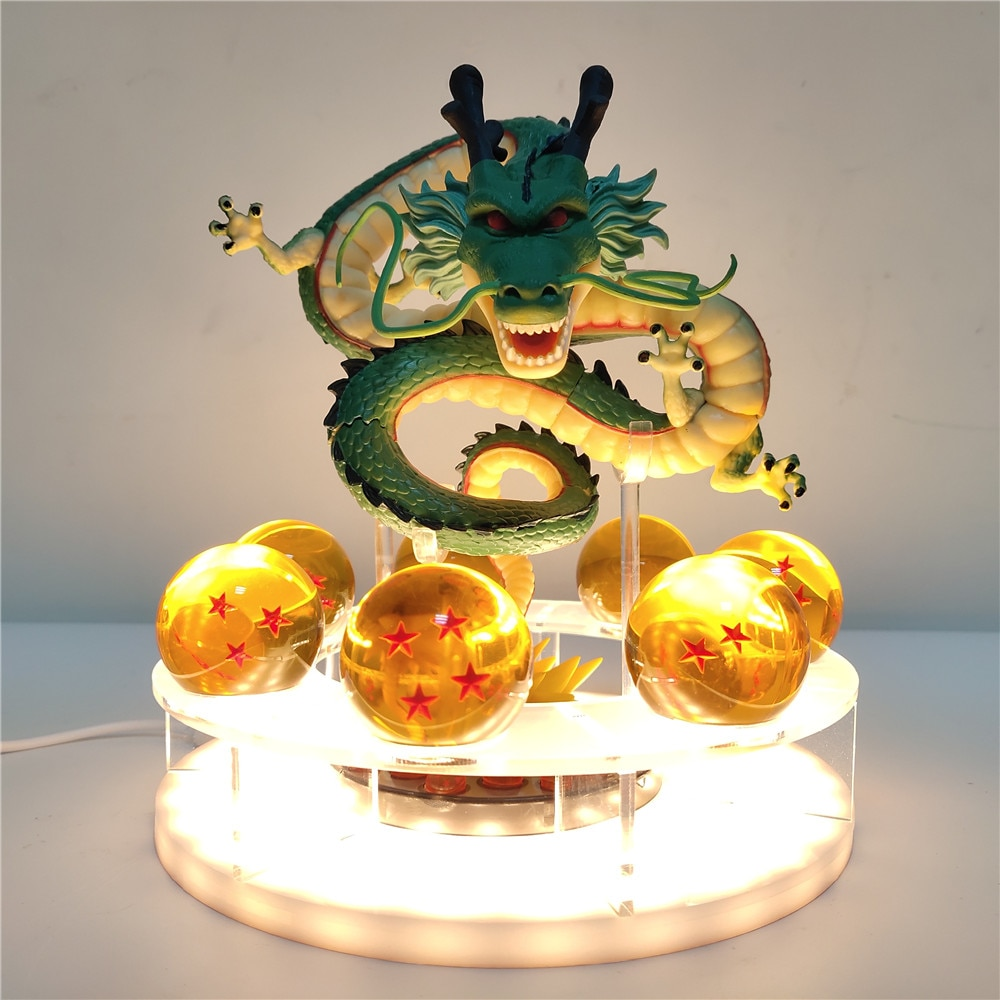 Shenron-Luz LED nocturna de Anime, lámpara de mesa de dragón, decorativa, con potencia USB, modelo Dragon