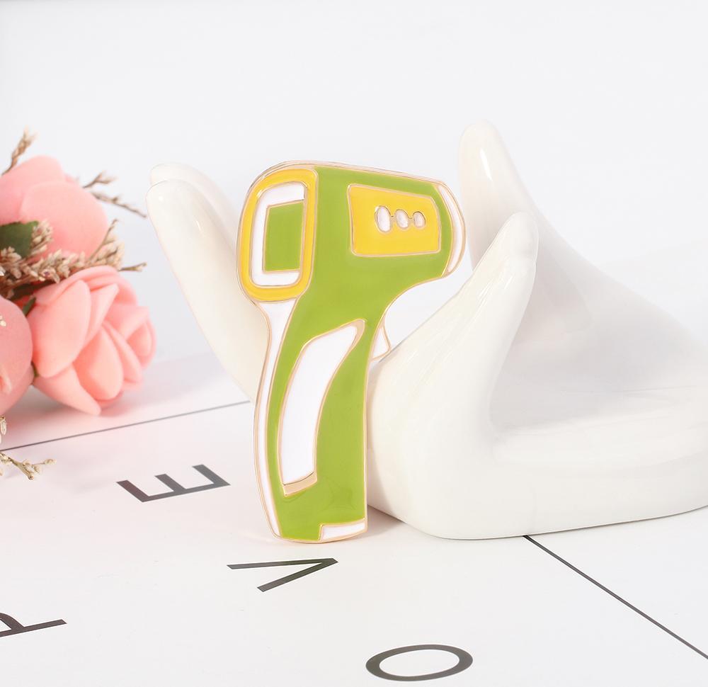 Термометр булавки броши медицинское оборудование медсестры булавка Металлический Панк ювелирные изделия эмаль брошь женские аксессуары подарок AL647