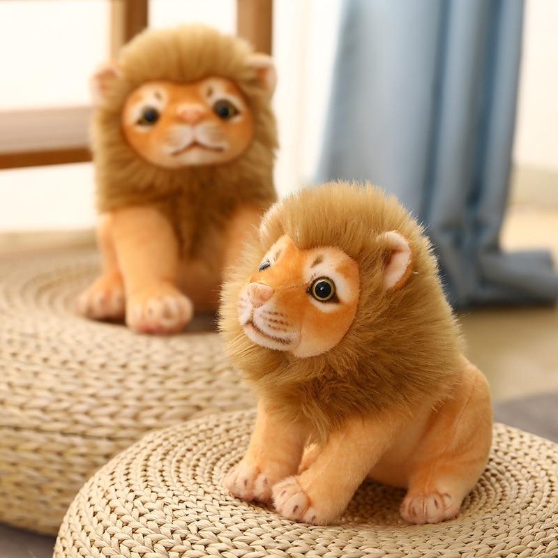 Имитация куклы льва плюшевые игрушки детские праздничные подарки Тряпичные куклы украшения для дома 23 см/28 см милый Лев успокаивающий пода...