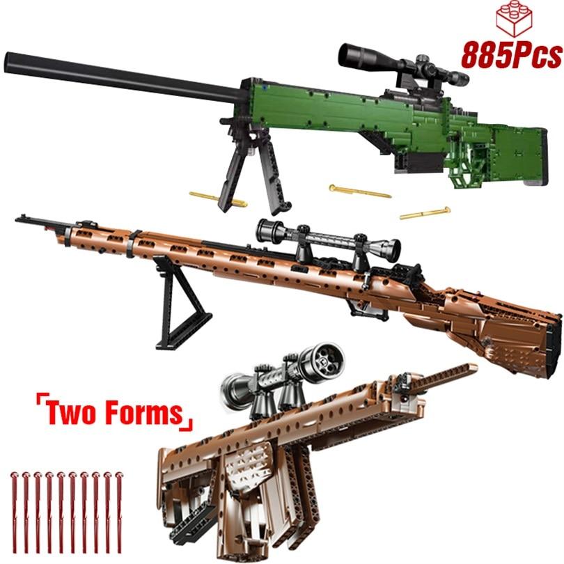 Technic kar 98 bloques de construcción SWAT creador técnico arma AWM modelos de francotirador pistola arma de bloques niños juguetes educativos para niño
