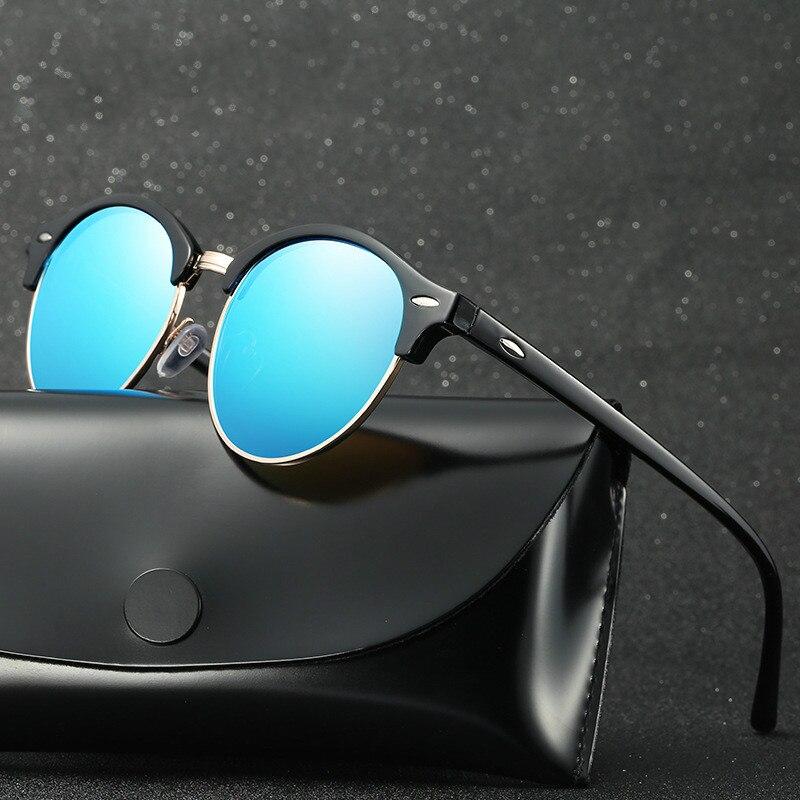 Men Polarized Sunglasses for Men and Women Semi Rimless Frame Fashion Rays Brand Designer Driving Su