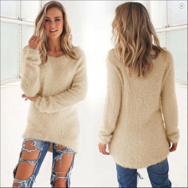 Frauen Pullover 2019 Casual Feste Langarm Jumper Pullover Bluse Pullover Strickte Weibliche Trikot Jersey Mode Pullover