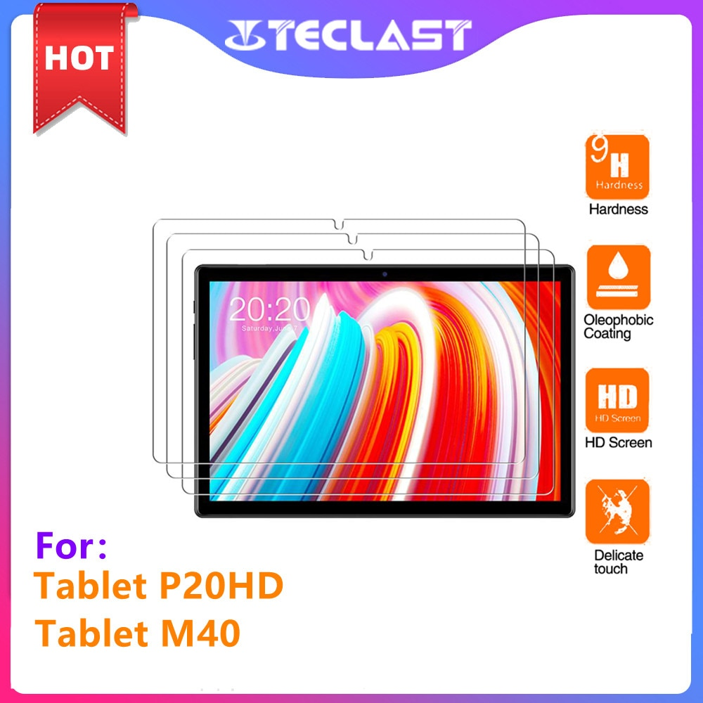 NEW Glass protector only use teclast M40 and P20HD 10.1Inch Premium Tablet protector Glass Screen Film Protector Cover
