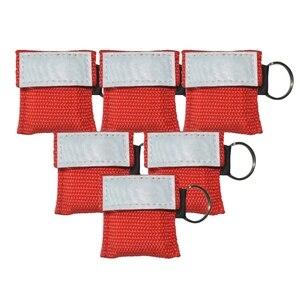 500 шт./лот ручной реаниматор для оказания первой помощи, защитный щит для лица для оказания первой помощи, аварийно-спасательная тренировка, ...