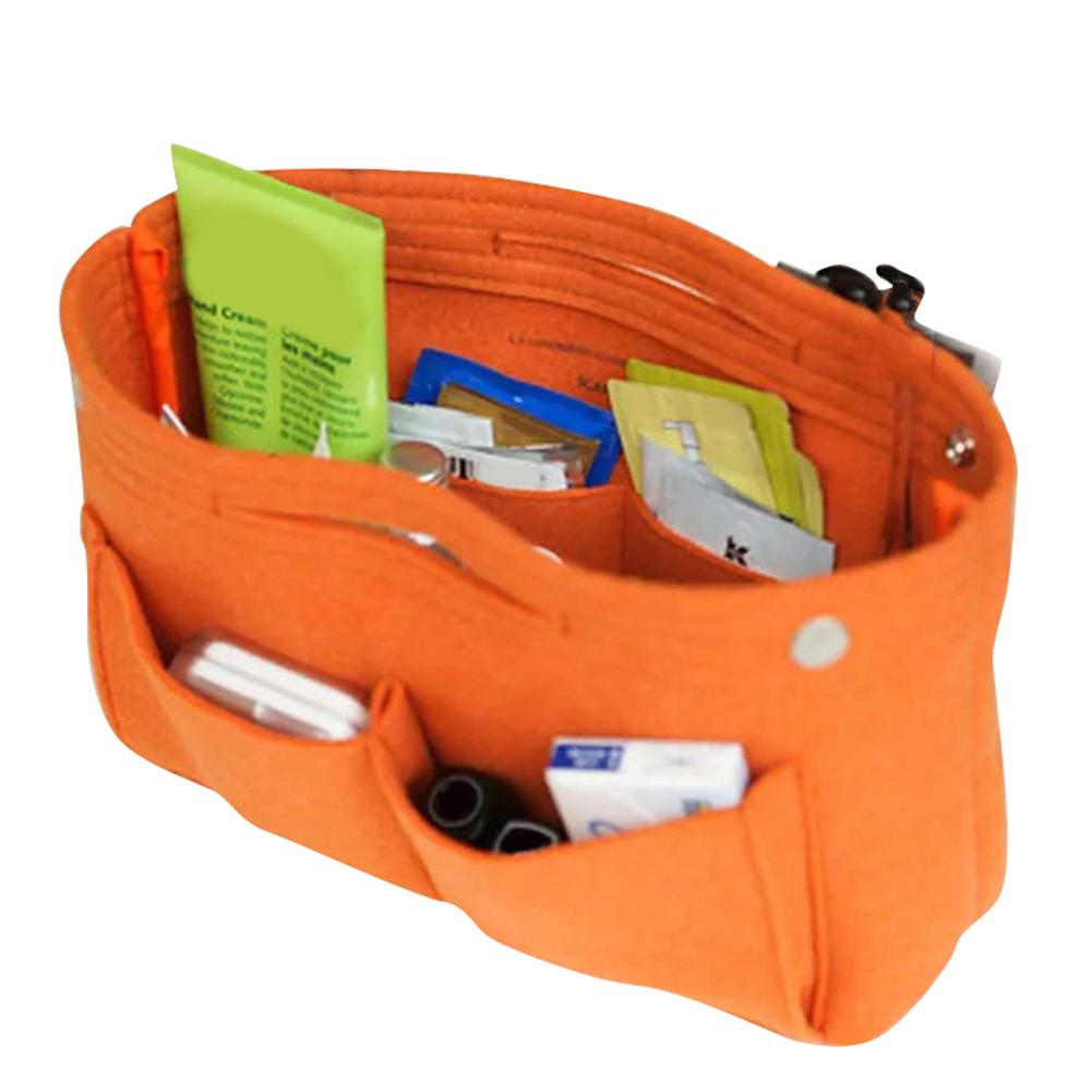 1Pc Multifunction Felt Cloth Inner Bag Fashion Handbag Multi-pockets Cosmetic Storage Organizer Bags