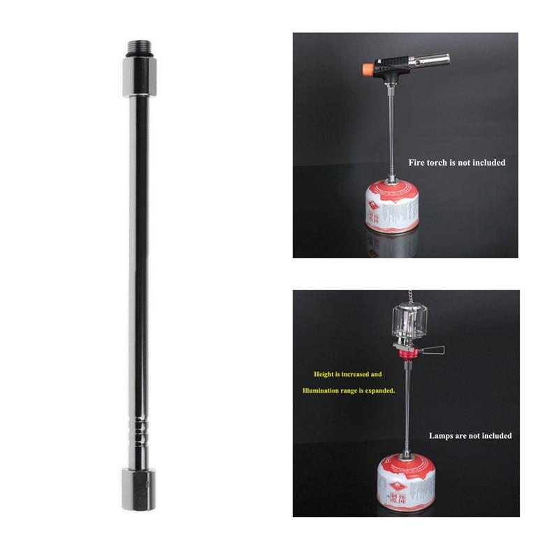 Barra de conversión de Gas para estufa al aire libre, extensión de tubo de linterna de Gas, extensor de soplete, varilla de lámpara de Camping, estufa de cocina, herramientas para exteriores