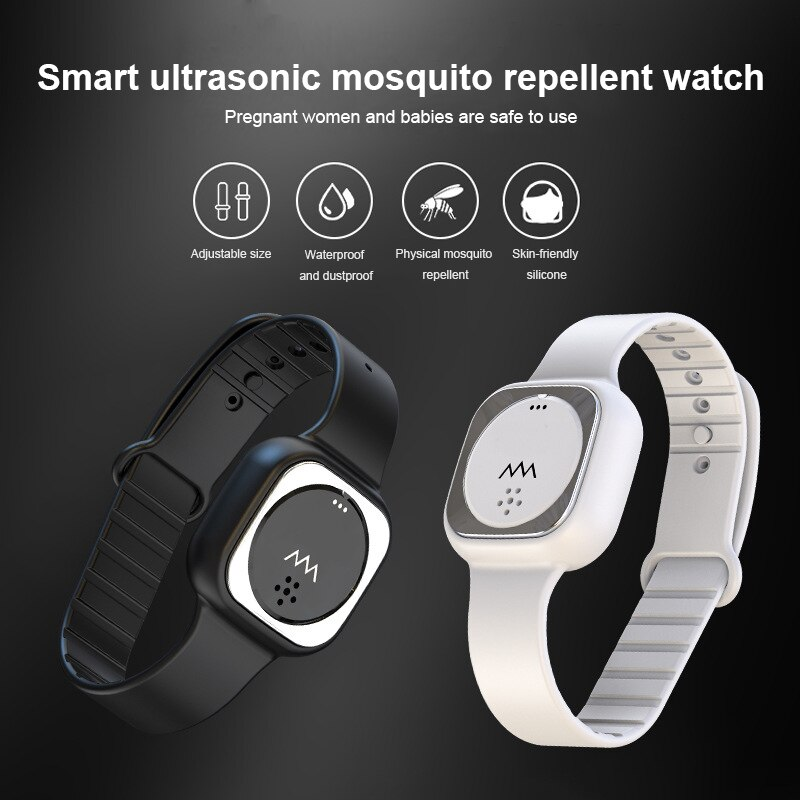 Ultrasonic Anti-mosquito Pest Insect Repellent Bracelet Silicone Wristband Wrist Watch Maintenance Suitable For Children