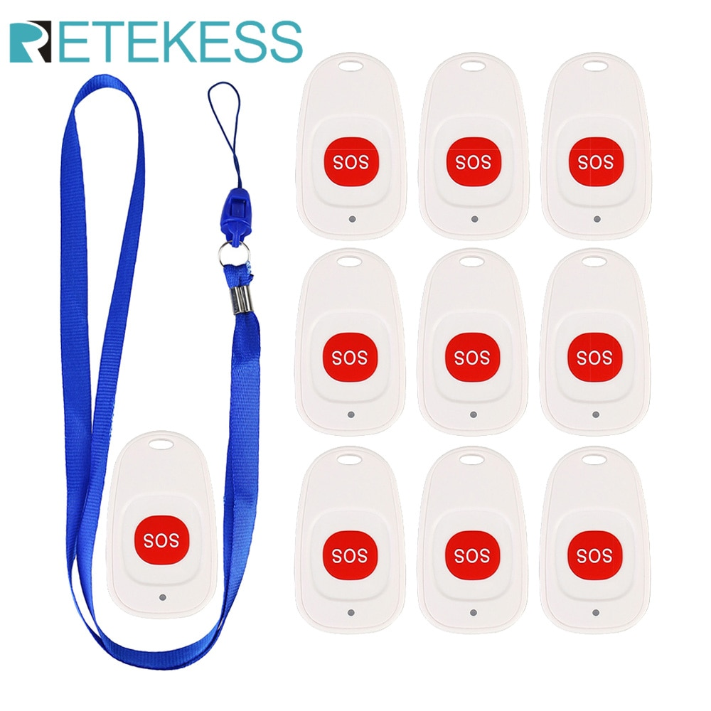 10pcs Retekess TH001 Call Bell Emergency Pager Nurse Call Button Wireless Calling System for Clinic Patient the Elderly