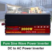 12V/24V 220V 2000/3000/4000W Onda Sinusoidale Pura Power Inverter trasformatore di Tensione DC12V a 220V AC Converter + 2 Display A LED