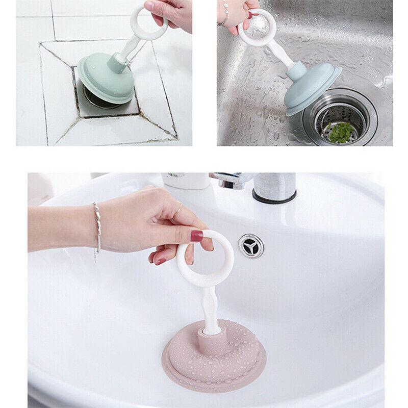 Pipeline Dredge Plunger Suction Pipe Cleaner Drain Bath Sink Rubber Dredge Tool Hair Clogging Cleaner Bathroom Kitchen недорого