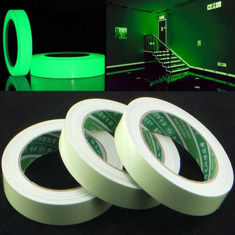 Fitas adesivas da fase do desempenho das placas de rodapé da entrada da escada do branco 10mm * 6m do brilho autoadesivo da fita luminosa