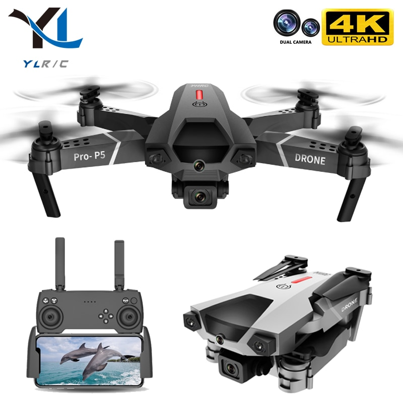 New P5 Drone 4K Dual Camera Professional Aerial Photography Infrared Obstacle Avoidance Quadcopter RC Helicopter Child Toy