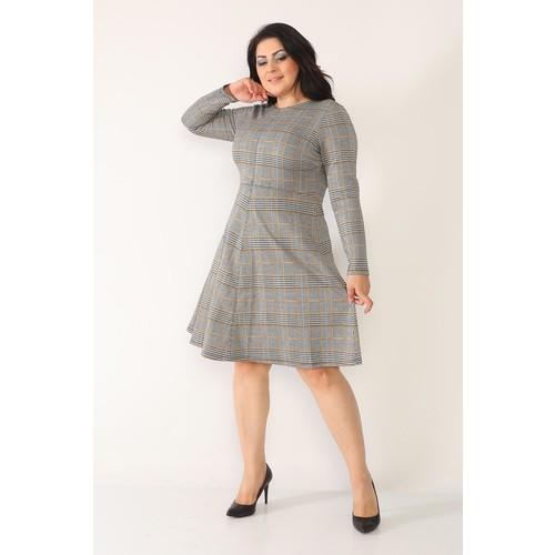Women Plus Size dress loose fit dress plaid dress casual dress summer dress comfortable wearable maternity dress enlarge