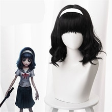 Identity V Dream Witch Kawakami Tomie Yidhra Cosplay negro pelo sintético resistente al calor Halloween fiesta carnaval + gorro de peluca gratis