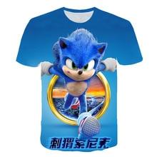 Mode Sonic Hedgehog 2020 Garçon Vêtements Dété 3D Bébé Drôle T-shirt Enfants Décontracté Anime T-shirt Bébé Bébé Haut Pour Enfants Fille Vêtements